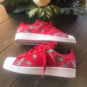 Adidas Superstar Red Pineapple Shoes